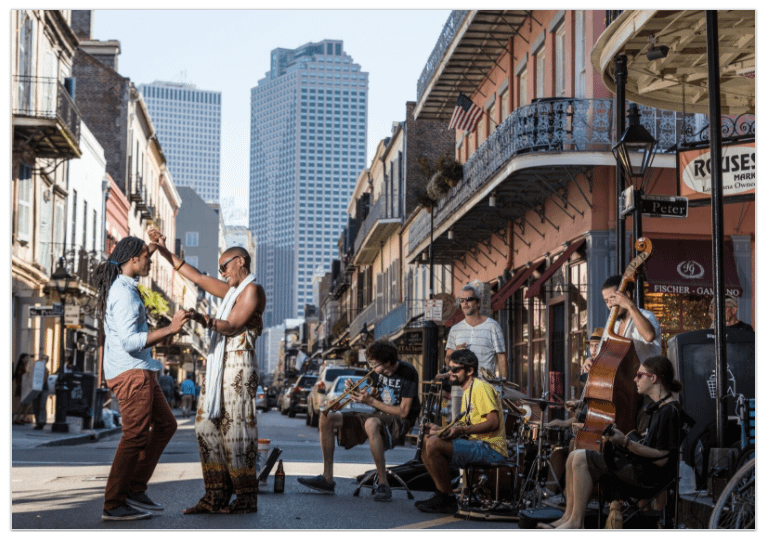 Tharrison and Voice on Royal Street. Image produced for New Orleans Tourism ©2017 Zack Smith