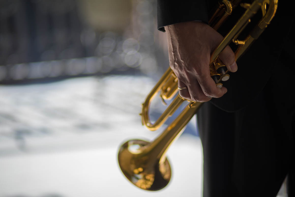 Image of trumpeter in New Orleans shot on a fixed 50mm lens at an aperture of 1.2. ©2017 Zack Smith Photography. CLIENT: Mark Lawrence Johnson