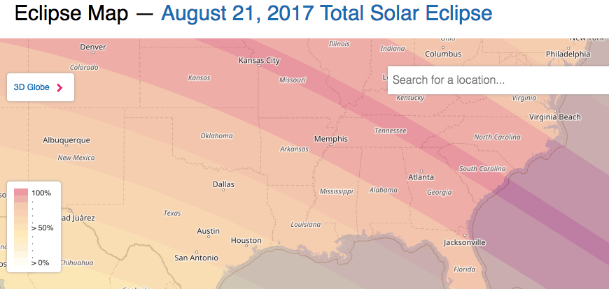 This map shows the path of Totality of the Solar Eclipse (SOURCE: www.timeanddate.com)
