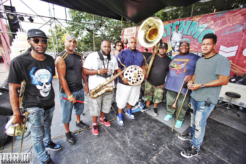 The Soul Rebels Brass Band were nice enough to pose for a portrait!
