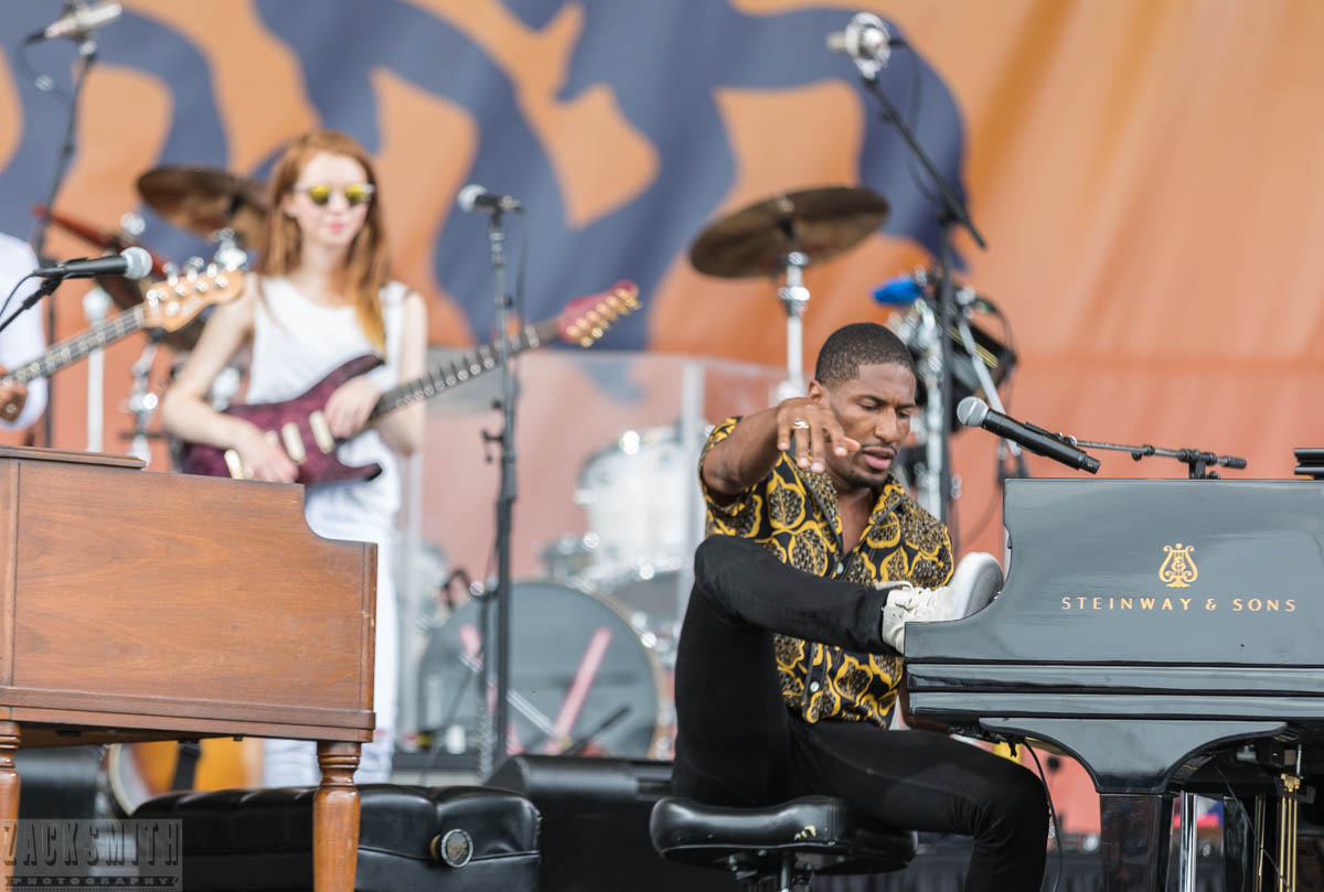 Jonathan Batiste and Stay Human perform on the Acura Stage.