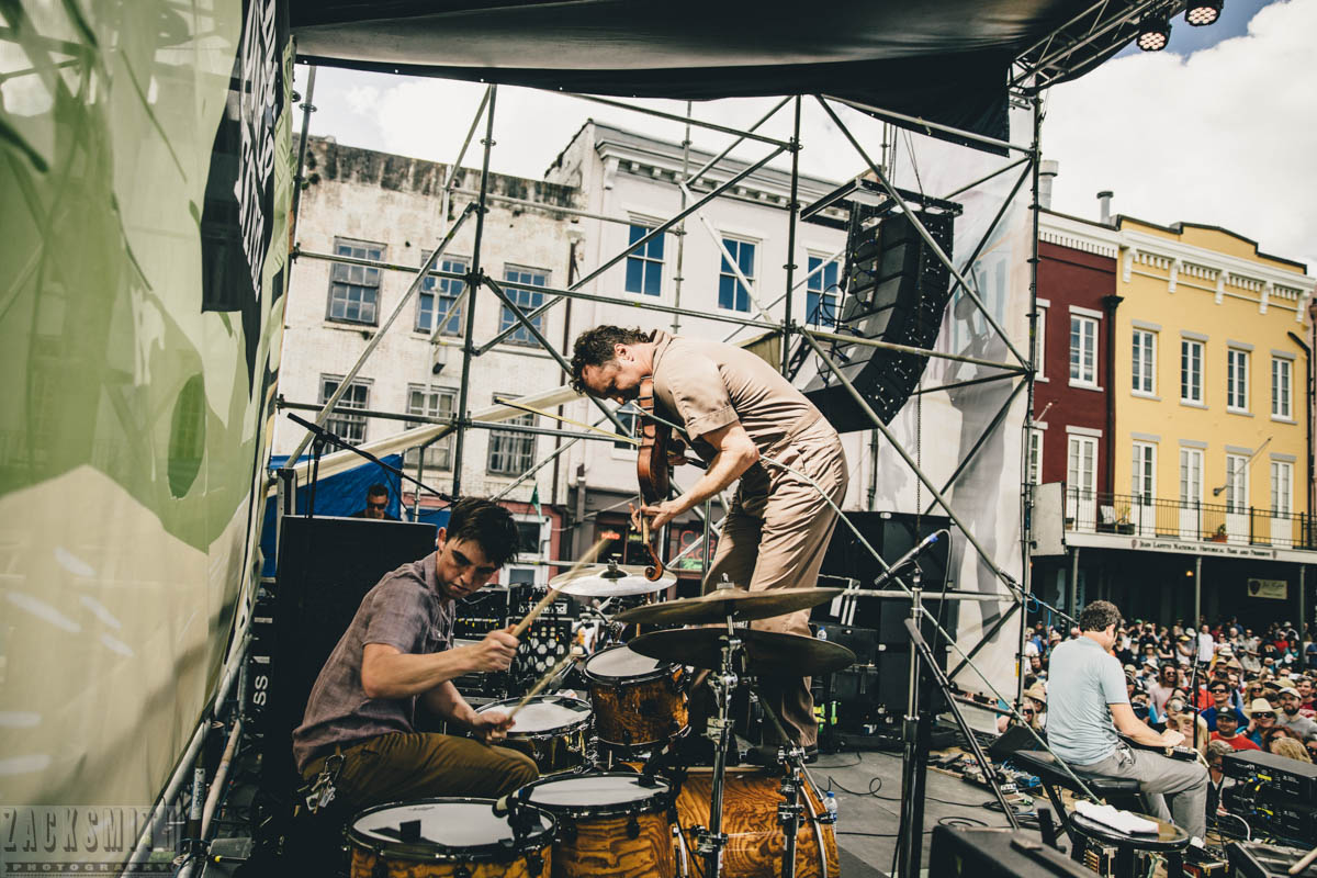 Lost Bayou Ramblers perform at French Quarter Fest 2018. ©ZSP